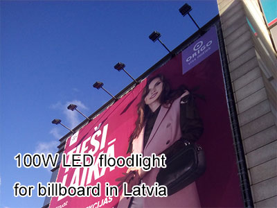 100W LED floodlight for billboard in Latvia