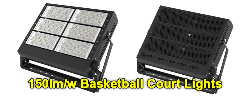 High efficiency basketball court lights