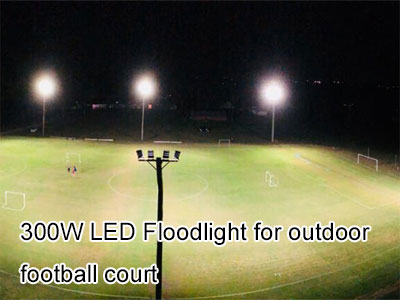 300W LED Floodlight for outdoor football court