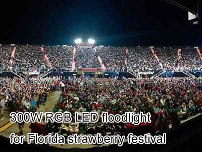 300W RGB LED floodlight for Florida strawberry festival