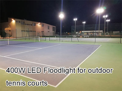 400W LED Floodlight for outdoor tennis courts