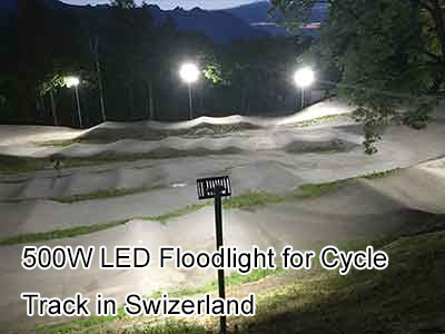 500W LED Floodlight for Cycle Track in Swizerland