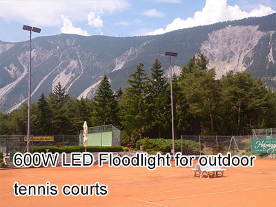 600W LED Floodlight for outdoor tennis courts