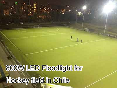 800W LED Floodlight for Hockey field in Chile