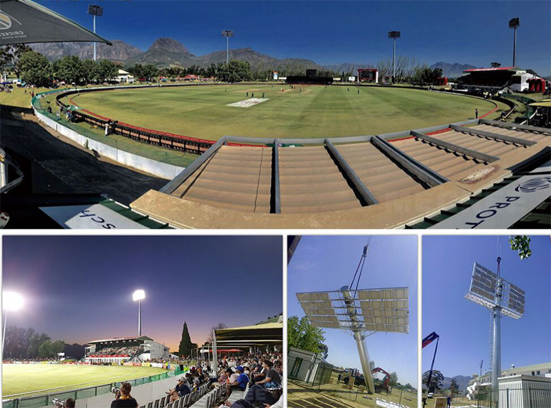 Boland Cricket Stadium lighting in South Africa