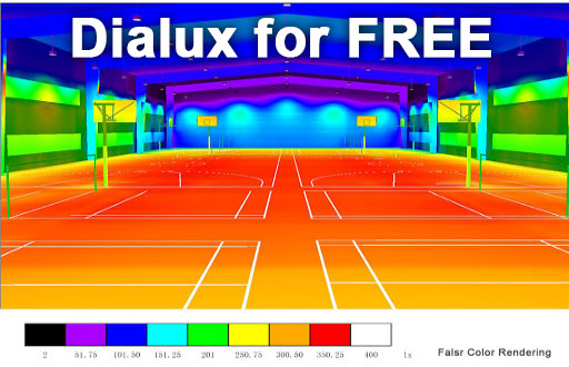 Dialux for FREE basketball court lights