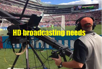 Stadium lighting is a need for color TV relay games