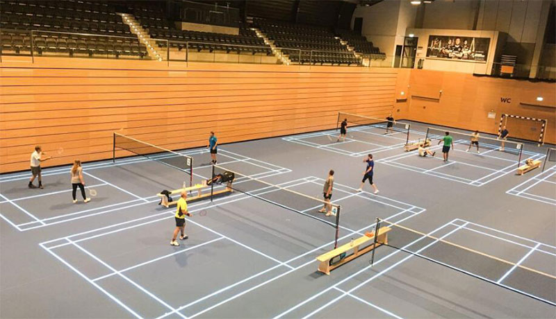 What s the lux requirement for different standard badminton courts lighting