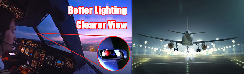 Anti-Glare Protect Pilots eyes