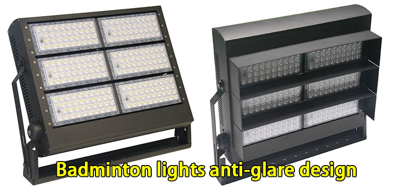 badminton lights anti glare design
