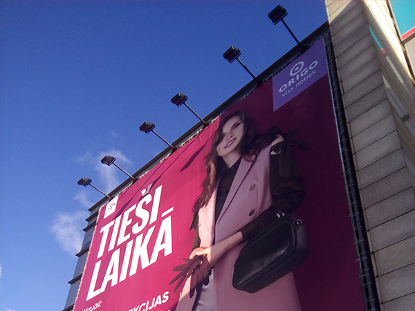100W LED floodlight for billboard in Latvia