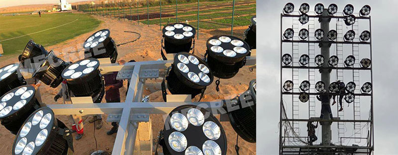 football field lights Installation operation and maintenance