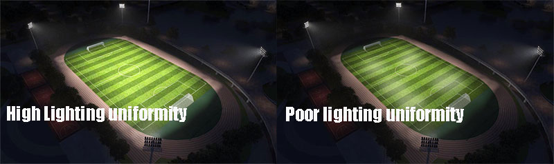 football stadium lights led Uniformity Standard