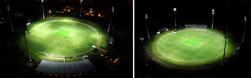 high uniformity led cricket stadium lighting