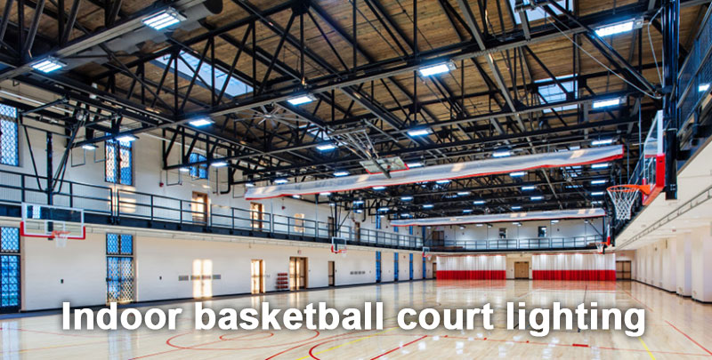 indoor basketball court lighting