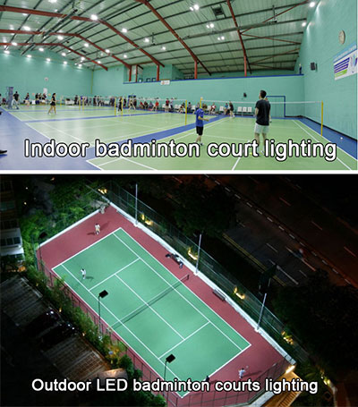 indoor outdoor badminton court lighting