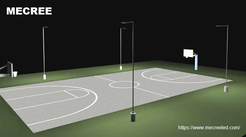 outdoor basketball court led lighting