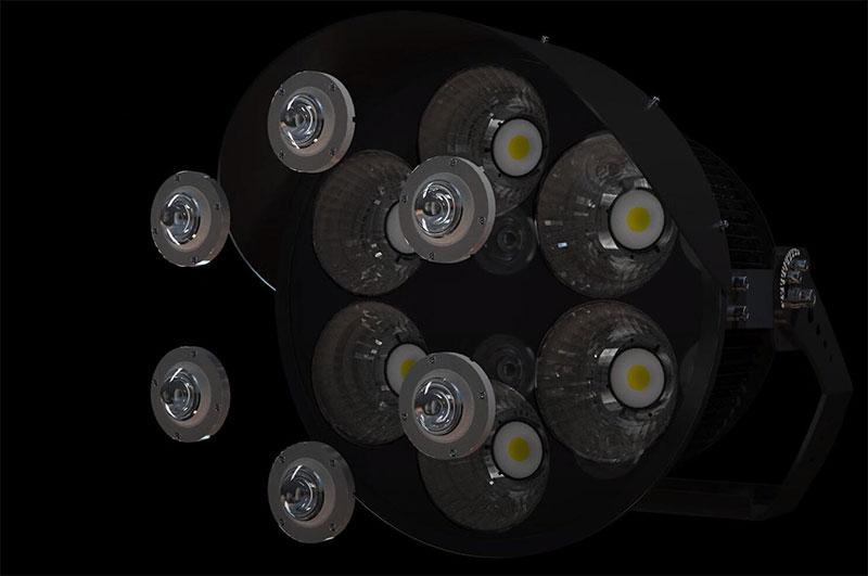 led cricket stadium lights detail