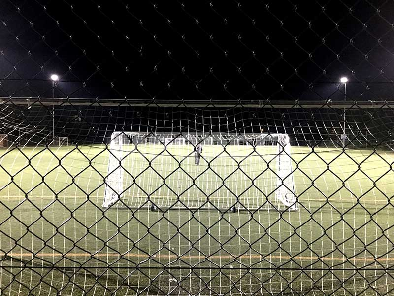 cost of flood lighting a football pitch