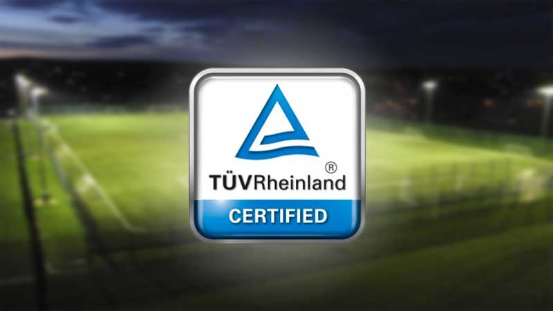 tuv certificate mecree floodlight