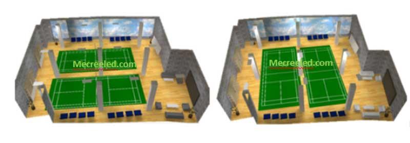 indoor badminton court lighting design