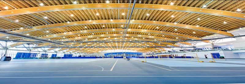 badminton court lighting arrangement