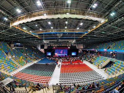 The ways of arranging the lighting for indoor stadium project