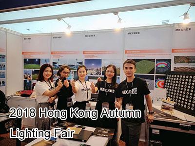 MECREE Four Types LED Flood Lights High-profile Debut in 2018 Hong Kong Autumn Lighting Fair