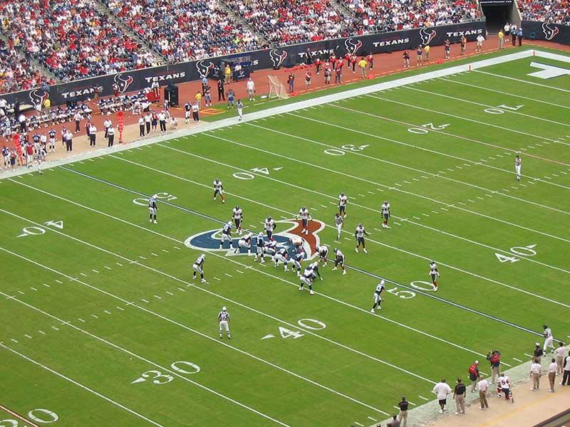 America football stadium lights