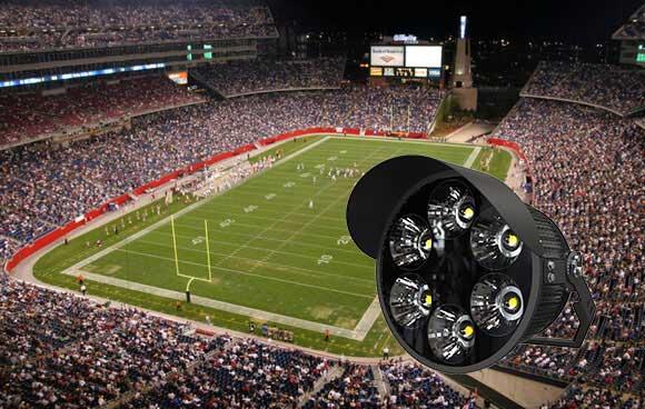 led America football stadium lights