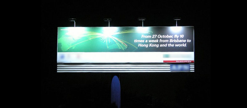 outdoor billboard lighting