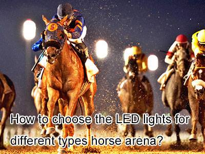 How to choose the LED lights for different types horse arena?