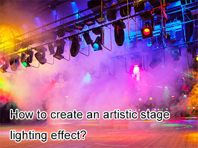 How to create an artistic stage lighting effect?
