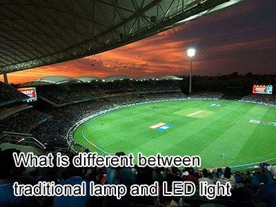 What is different between traditional lamp and LED light