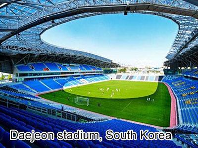Daejeon stadium, South Korea