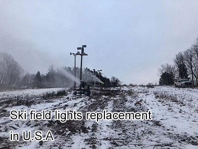 Ski field lights replacement in U.S.A