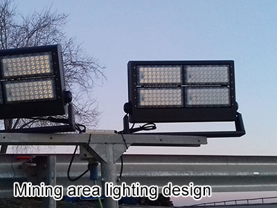 Mining area lighting design
