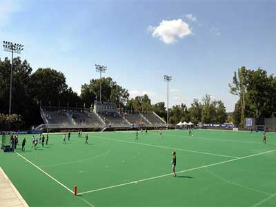 Hockey field lighting layout
