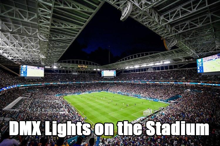 DMX Lights on the Stadium