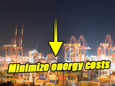 How to minimize energy costs at ports & shipping yards?