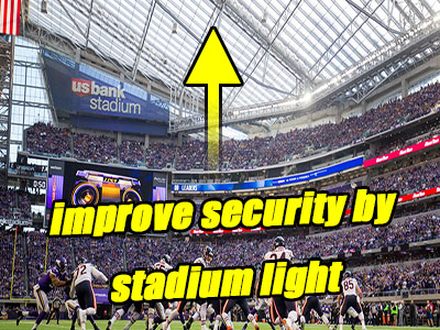 How does Lighting ensure the security of stadium?