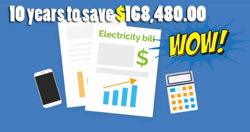 10 years to save 16848000 Reduce 70 Energy consumption
