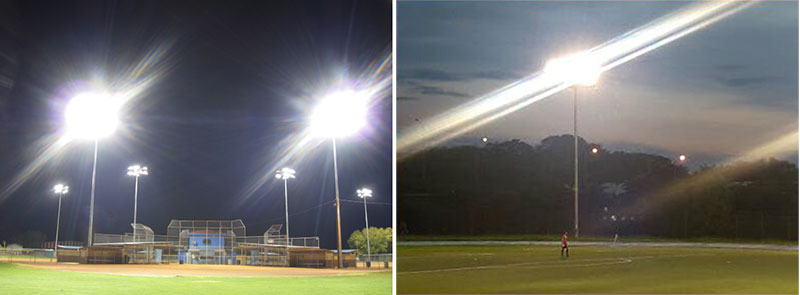Examples of wrong football stadium lighting cases