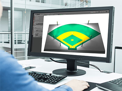 Free DIALux Simulation Design baseball field lighting