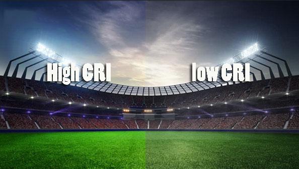 High CRI VS Low CRI football stadium lights