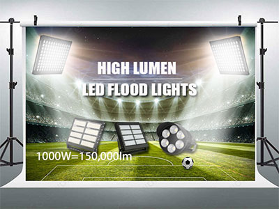 How many lumens do you need to light up a football field