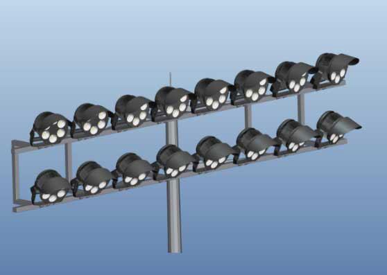 Small volume Save the installation cost stadium lights