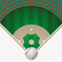 What is the main points for baseball field lighting design