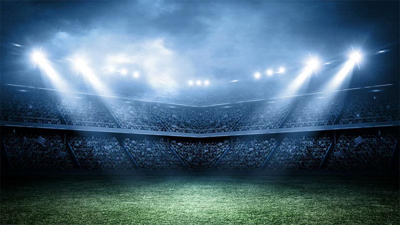 led football stadium lights background
