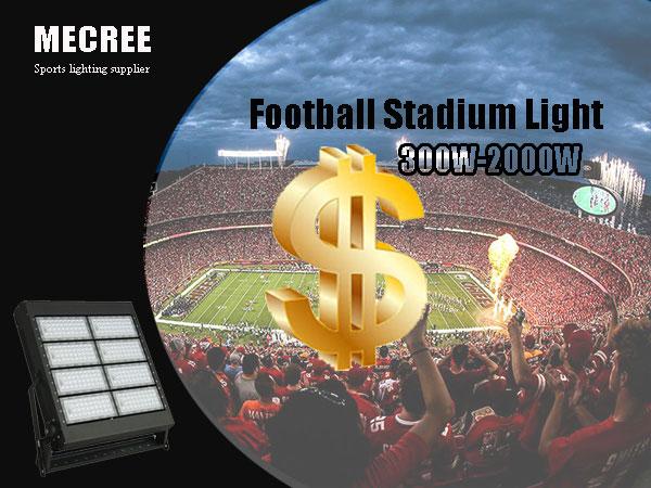 mecree sports lighting supplier football staidum light 300w 2000w